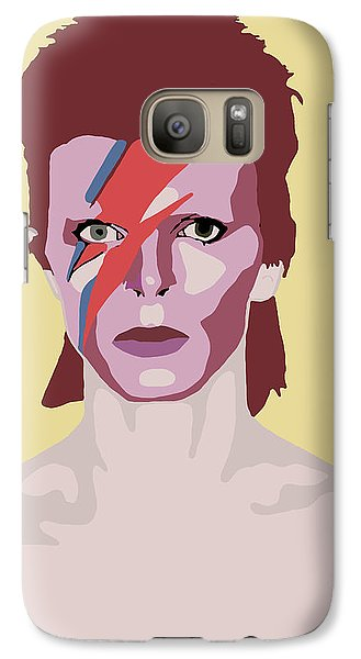 David Bowie Galaxy Case by Nicole Wilson