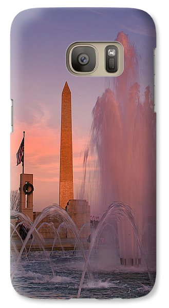 Dc Sunset Galaxy Case by Betsy Knapp