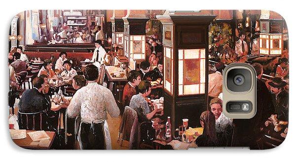 Dentro Il Caffe Galaxy Case by Guido Borelli