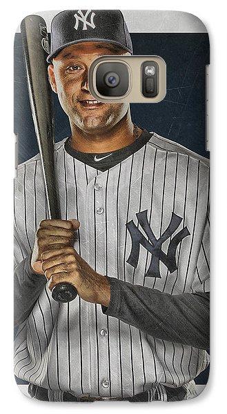 Derek Jeter New York Yankees Art Galaxy Case by Joe Hamilton