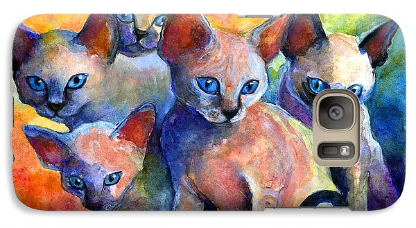 Devon Rex Kitten Cats Galaxy S7 Case by Svetlana Novikova