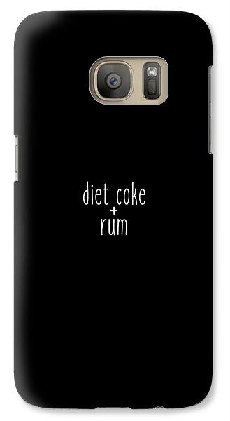 Diet Coke And Rum Galaxy S7 Case by Cortney Herron