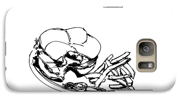 Diner Drawing Charbroiled Chicken 2 Galaxy Case by Chad Glass