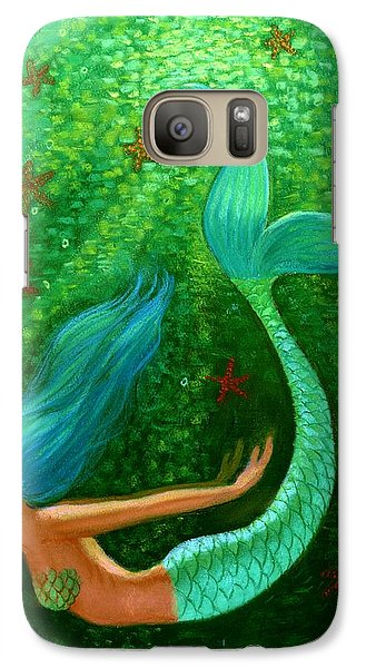Diving Mermaid Fantasy Art Galaxy Case by Sue Halstenberg