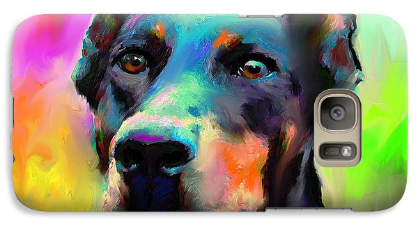 Doberman Pincher Dog Portrait Galaxy S7 Case by Svetlana Novikova