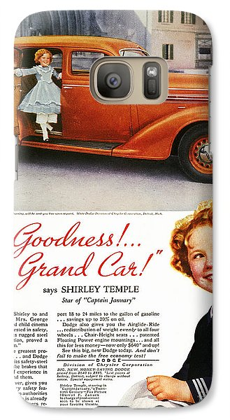 Dodge Automobile Ad, 1936 Galaxy S7 Case by Granger
