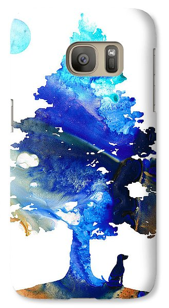 Dog Art - Contemplation - By Sharon Cummings Galaxy Case by Sharon Cummings