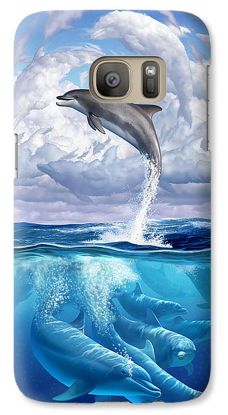 Dolphonic Symphony Galaxy Case by Jerry LoFaro