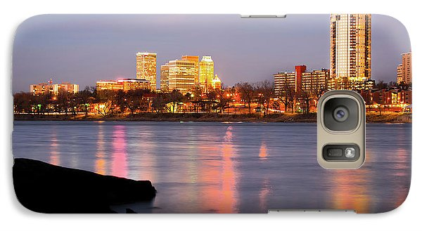 Downtown Tulsa Oklahoma - University Tower View Galaxy Case by Gregory Ballos
