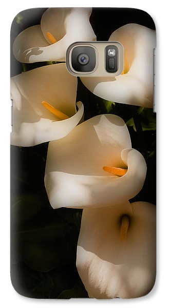 Dreamy Lilies Galaxy Case by Mick Burkey