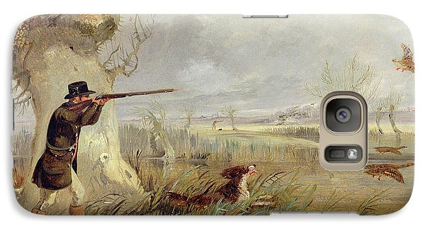 Duck Shooting  Galaxy Case by Henry Thomas Alken