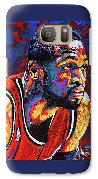 Dwyane Wade 3 Galaxy Case by Maria Arango