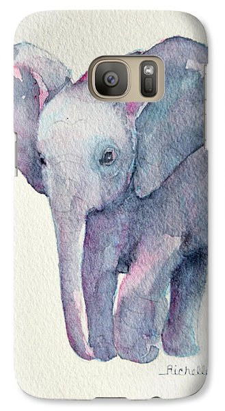 E Is For Elephant Galaxy Case by Richelle Siska