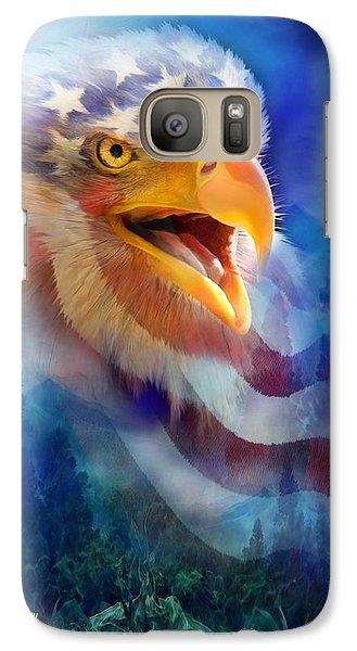 Eagle's Cry Galaxy Case by Carol Cavalaris