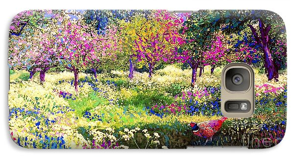 Echoes From Heaven, Spring Orchard Blossom And Pheasant Galaxy S7 Case by Jane Small