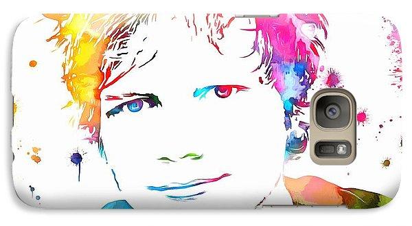 Ed Sheeran Paint Splatter Galaxy Case by Dan Sproul