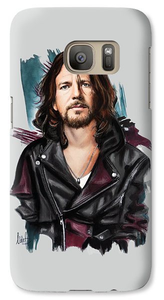 Eddie Vedder Galaxy Case by Melanie D