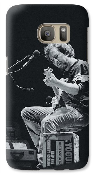 Eddie Vedder Playing Live Galaxy Case by Marco Oliveira