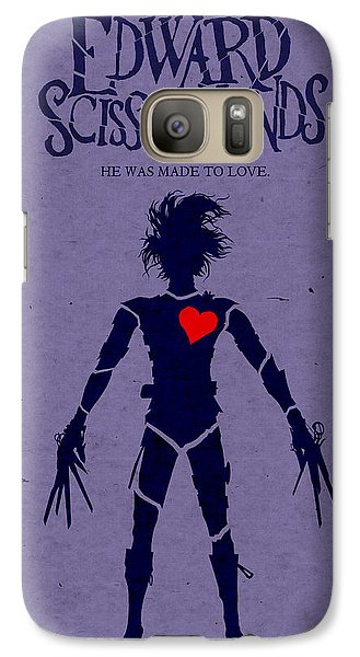 Edward Scissorhands Alternative Poster Galaxy Case by Christopher Ables