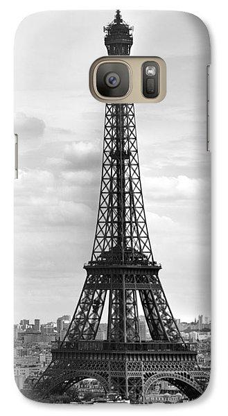 Eiffel Tower Black And White Galaxy S7 Case by Melanie Viola
