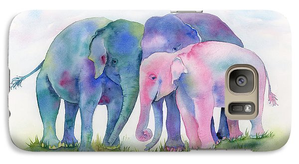 Elephant Hug Galaxy Case by Amy Kirkpatrick