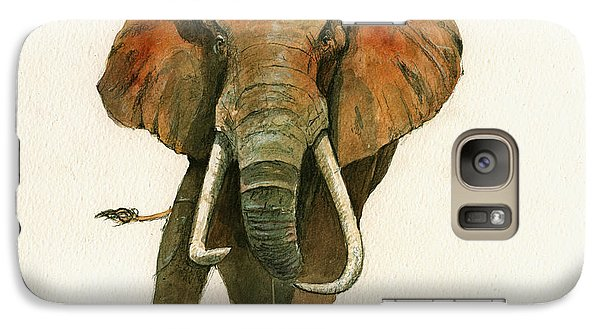 Elephant Painting           Galaxy Case by Juan  Bosco