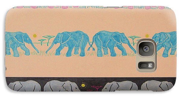 Elephant Pattern Galaxy Case by John Keaton