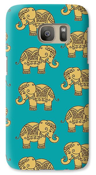 Elephant Pattern Galaxy Case by Krishna Kharidehal