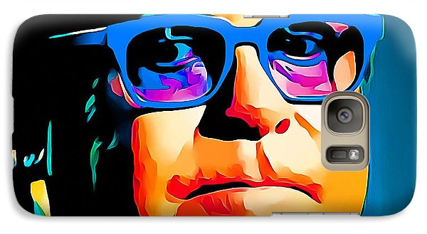 Elton John Blue Eyes Portrait Galaxy Case by Yury Malkov
