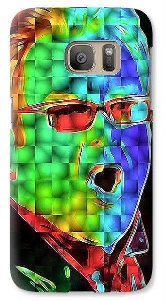 Elton John In Cubes 2 Galaxy Case by Yury Malkov