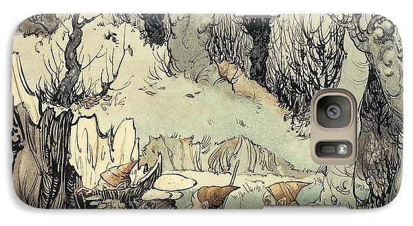 Elves In A Wood Galaxy S7 Case by Arthur Rackham