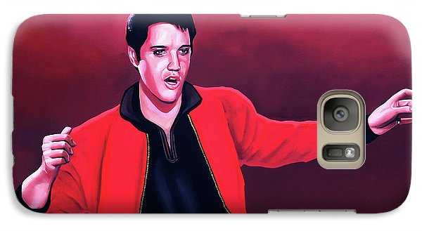 Elvis Presley 4 Painting Galaxy S7 Case by Paul Meijering