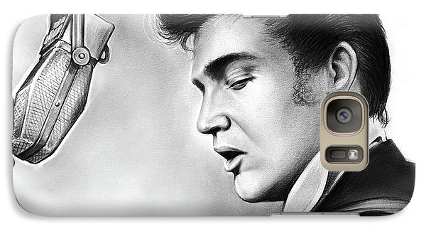 Elvis Presley Galaxy S7 Case by Greg Joens