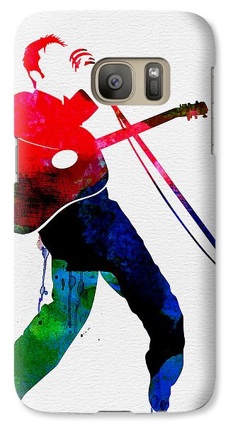 Elvis Watercolor Galaxy S7 Case by Naxart Studio