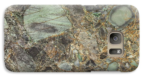 Emerald Green Granite Galaxy S7 Case by Anthony Totah