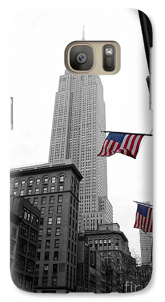 Empire State Building In The Mist Galaxy Case by John Farnan