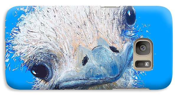 Emu Painting Galaxy S7 Case by Jan Matson
