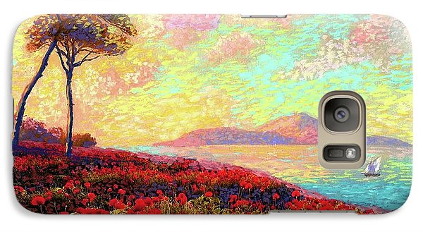 Enchanted By Poppies Galaxy S7 Case by Jane Small