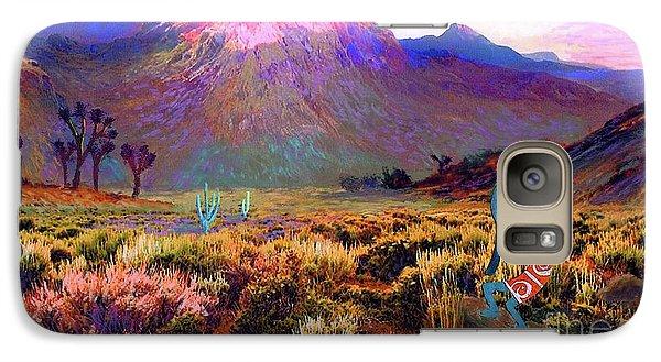 Enchanted Kokopelli Dawn Galaxy Case by Jane Small