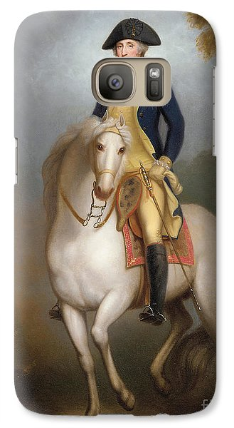 Equestrian Portrait Of George Washington Galaxy Case by Rembrandt Peale