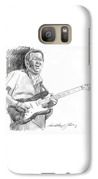 Eric Clapton Jam Galaxy S7 Case by David Lloyd Glover