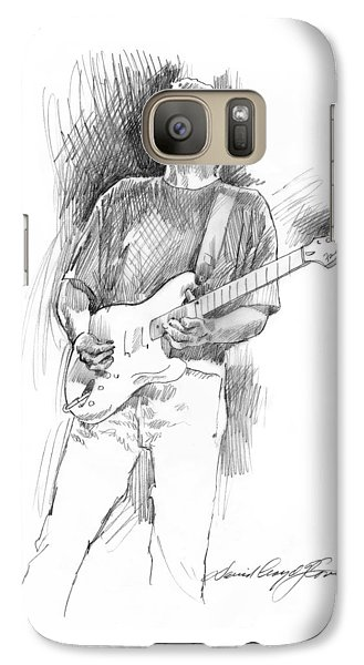 Eric Clapton Strat Galaxy S7 Case by David Lloyd Glover