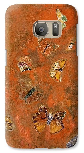 Evocation Of Butterflies Galaxy S7 Case by Odilon Redon