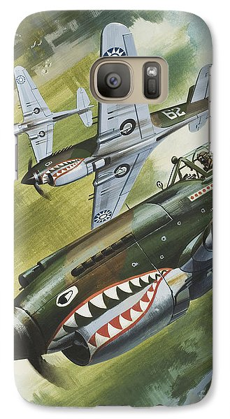 Famous Aircraft And Their Pilots Galaxy Case by Wilf Hardy