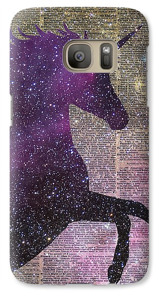 Fantasy Unicorn In The Space Galaxy S7 Case by Jacob Kuch