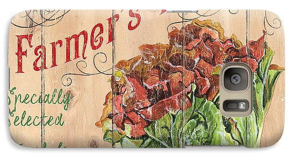 Farmer's Market Sign Galaxy Case by Debbie DeWitt