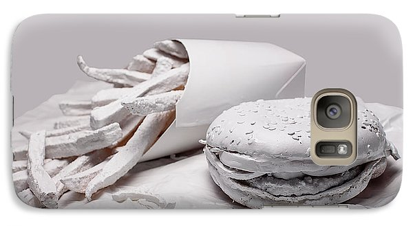 Fast Food - Burger And Fries Galaxy Case by Tom Mc Nemar