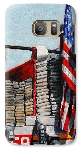 Fdny Engine 59 American Flag Galaxy S7 Case by Paul Walsh