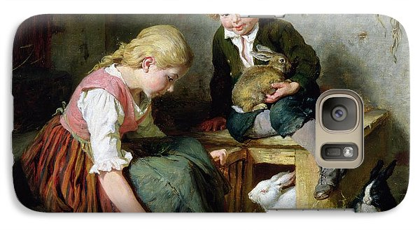 Feeding The Rabbits Galaxy Case by Felix Schlesinger