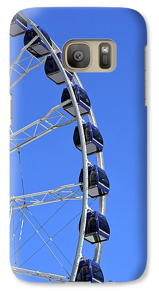 Ferris Wheel At Navy Pier, Chicago No. 1 Galaxy S7 Case by Sandy Taylor